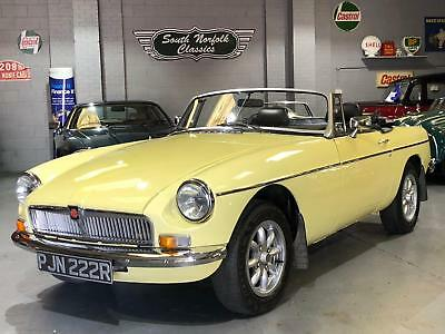 1976 MGB Roadster, Pale Primrose, overdrive, 70k, lots of history, chrome bumper