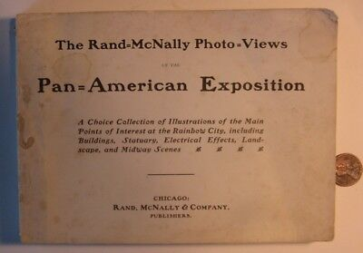Rand McNally Photo Views Pan American Exposition 1901 booklet Buffalo