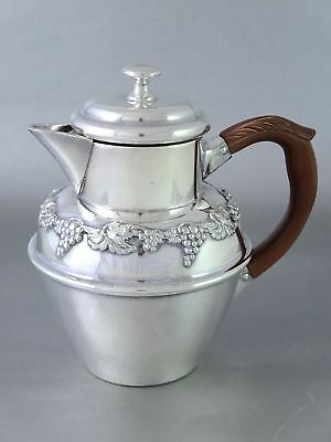 Antique CANADIAN Silverplate SYRUP PITCHER JUG Grape & Vine