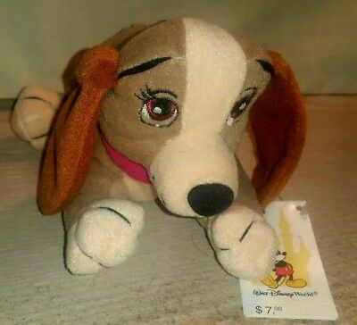 Disney Parks Lady And The Tramp Lady Dog Beanie Plush Bean Bag