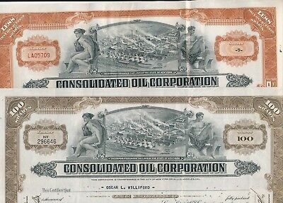 Lot/Set: 2 x Consolidated Oil Corporation 1937 und 1938