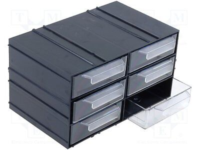 Set with drawers; Drawers no.in module: 6; Module: black; W: 230mm[1 pcs]