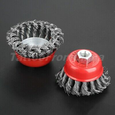 Durable Twist Knot Brush Steel Wire Cup Wheel Angle Grinder Polishing Deburring