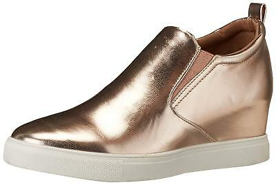 Madden Girl Womens PEPEE Hight Top Slip On Fashion Sneakers, Rose Gold, Size 6.0