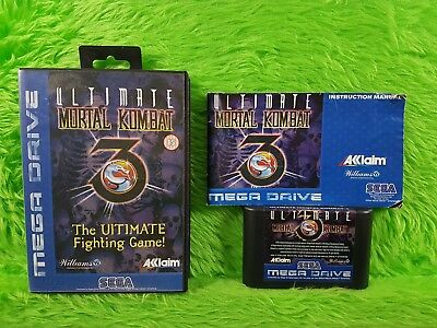 Sega Mega Drive ULTIMATE MORTAL KOMBAT 3 Boxed & Complete Rare Fighting Game PAL