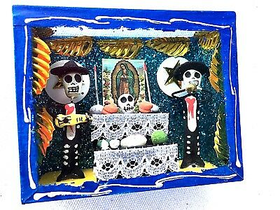Nicho Virgin Ofrenda Shadow Box  Alter Oaxaca Mexico