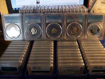 (LOT OF 40) PCGS GRADED COINS-& BOX-1c-5c-10c-25c- only coins-with duplicates #1