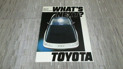 1983 Toyota 25Th Tokyo Auto Show Sales Brochure.