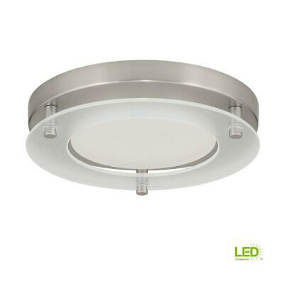 c868ce8b872 Progress Lighting 7.25 in. Flush Mount 17-Watt Brushed Nickel LED Flushmount