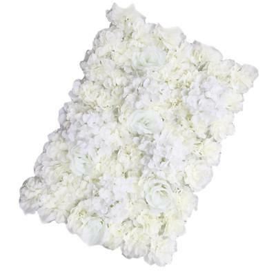 Artificial Flower Wall Panels Rose Hydrangea Wedding Background Decor-White