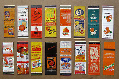 16 Diff Orange, Juice Matchcovers