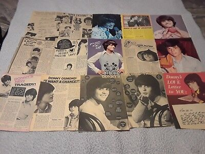 Donny Osmond Magazine Clippings Cuttings Photos Pinups Osmonds