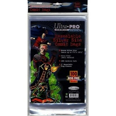 100 Ultra Pro Silver  Resealable Storage Bags And Boards New Factory Sealed