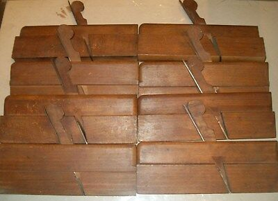 8 x Brown (Liverpool) Hollow & Round Moulding Planes - NO User Marks!