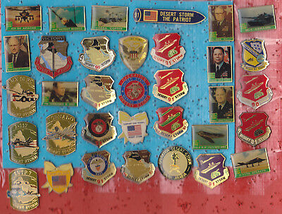 LOT DE 34 PIN'S GUERRE DU GOLF DESERT STORM USA US ARMY MILITAIRE ++++++ref70+