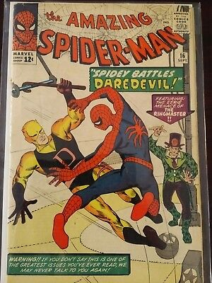 The Amazing Spider-Man #16 (Sep 1964, Marvel) – Good Condition - DAREDEVIL!