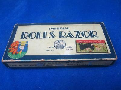 Antique Imperial Rolls Razor #2 in Box with Papers   A16