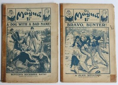 TWO Antique Original MAGNET Comics Billy Bunter Greyfriars Chums Ripping Yarns