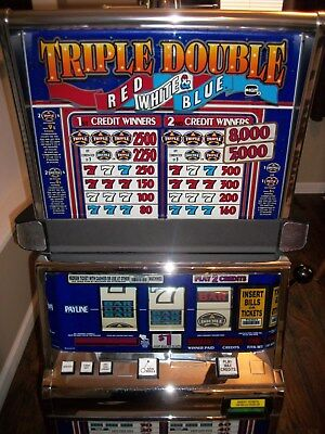 Igts2000 Triple Double Red White & Blue Slot Machine