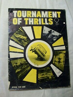 Autographed Tournament of Thrills Yearbook- Bumps Willert, Jimmy Canton