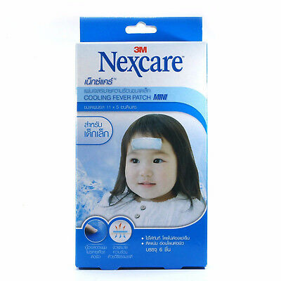 6 pcs 3M Nexcare Cooling Fever Patch  Small Children Kid  Mini Size 11 x 5 cm
