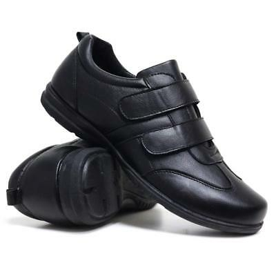 Mens New Casual Faux Leather Wide Fit Walking Running Gym Trainers Driving Shoes