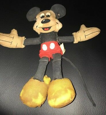 Vintage Mickey Mouse Doll Walt Disney Production Made In Taiwan