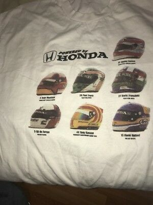 Powered By Honda  Helmets T Shirt Xl 46-48 Dirt Bike? Motorcycle Racing