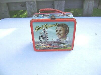 Vintage 1974 Evel Knievel  Lunchbox No Thermos Htf