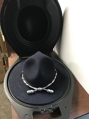 State Police Beaver Quality Campaign Hat Ranger Trooper Sz 7-3/8 With Hard Case