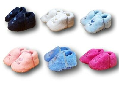 Baby Toddler Boys Girls Warm Fleece Slippers Shoes Booties Size 0-6m, 6-12m