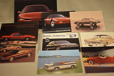 TWELVE Vintage and Later Car Postcards - Some Dealership and some Museums
