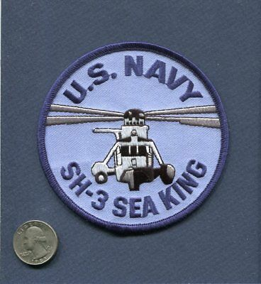 SIKORSKY SH-3 H-3 SEA KING US NAVY USMC HS Helicopter Squadron Patch