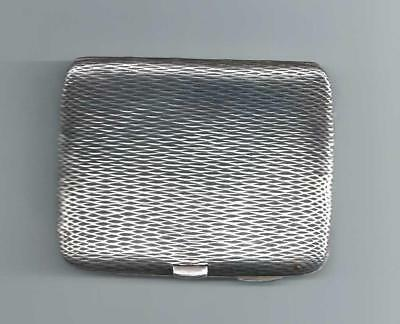 ANTIQUE STERLING SILVER CIGARETTE CASE 1903 - Birmingham - A J Zimmerman 74g