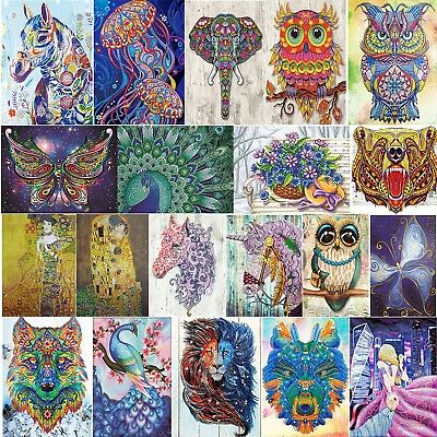 5D Special Shaped Diamond Painting Colorful Cross Stitch Kit DIY Home Decor Gift