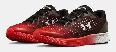 online store 9e491 4d662 UNDER ARMOUR UA Charged Bandit 4 Mens Running Sneaker Black/Red Shoe