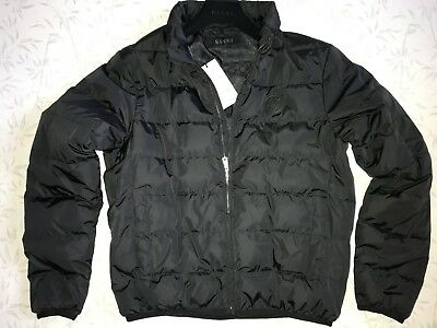 Gucci down jacket bomber black Size 54 = XL  Made in Italy