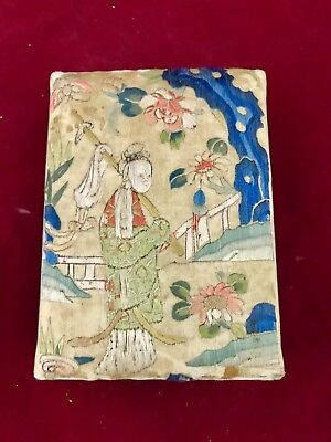 Nice Antique Chinese Embroidered Jewelry Box