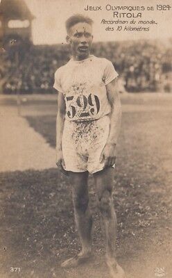 Olympic Games Real Photo. Paris 1924. Ville Ritola -Finland. 4 Gold Medals.