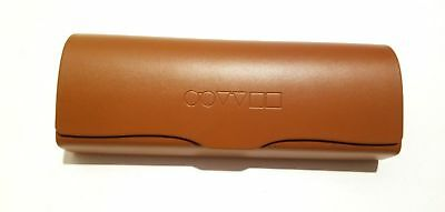 Brand New OLIVER PEOPLES Brown Embossed Sunglasses Eyeglasses Case w/ Cloth!