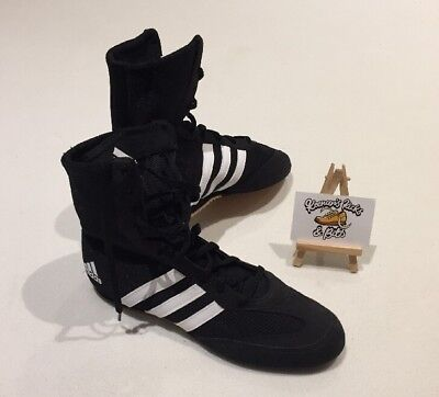 Adidas Box Hog 2 Boxing Boots Black Sports Shoes Trainers UK 6.5 WRESTLING MMA