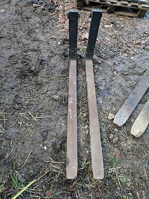 "Pair Of Forklift Forks 46 3/4"" Long"