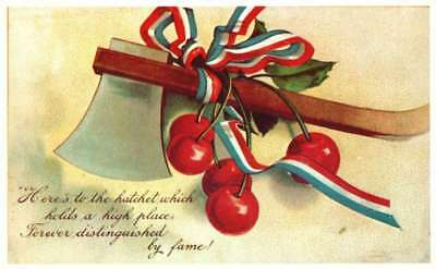 Postcard Here's to the Hatchet Vintage 4th of July red, white, and blue 50PC