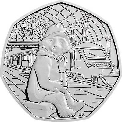 2018 Uk Paddington Bear At The Station Coin Bu 50P- Official Uk Issue