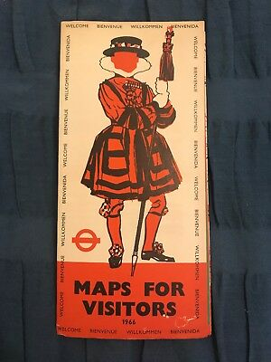 London Transport Underground 1966 Maps For Visitors Welcome To London This Is