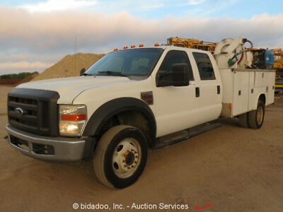 2008 Ford F550XL Crew Cab Service Utility Truck 6.4L V8 Diesel A/T Cold A/C Lube