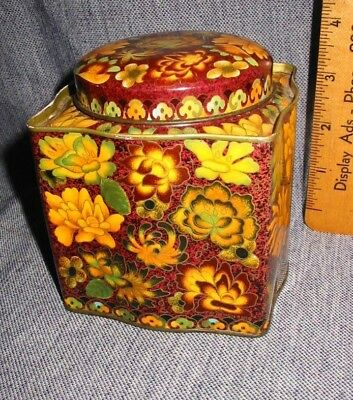 Vintage Daher Tin Fall Color Flower Candy Biscuit Coffee Farm Decor  Usa England