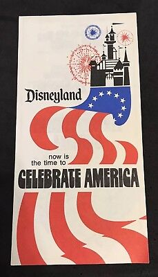 1976 Disneyland now in time to celebrate America Info pamphlet