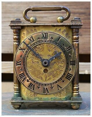 Vintage Smiths Brass Lantern Carriage Clock.
