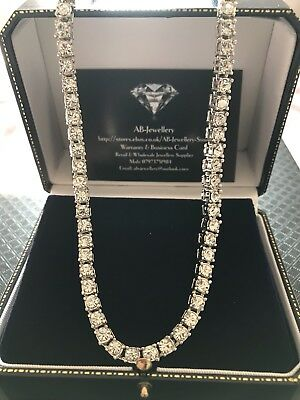 """1 Row Silver Plated 20"""" 6mm Pharaoh tennis Hip Hop Bling Chain Necklace"""